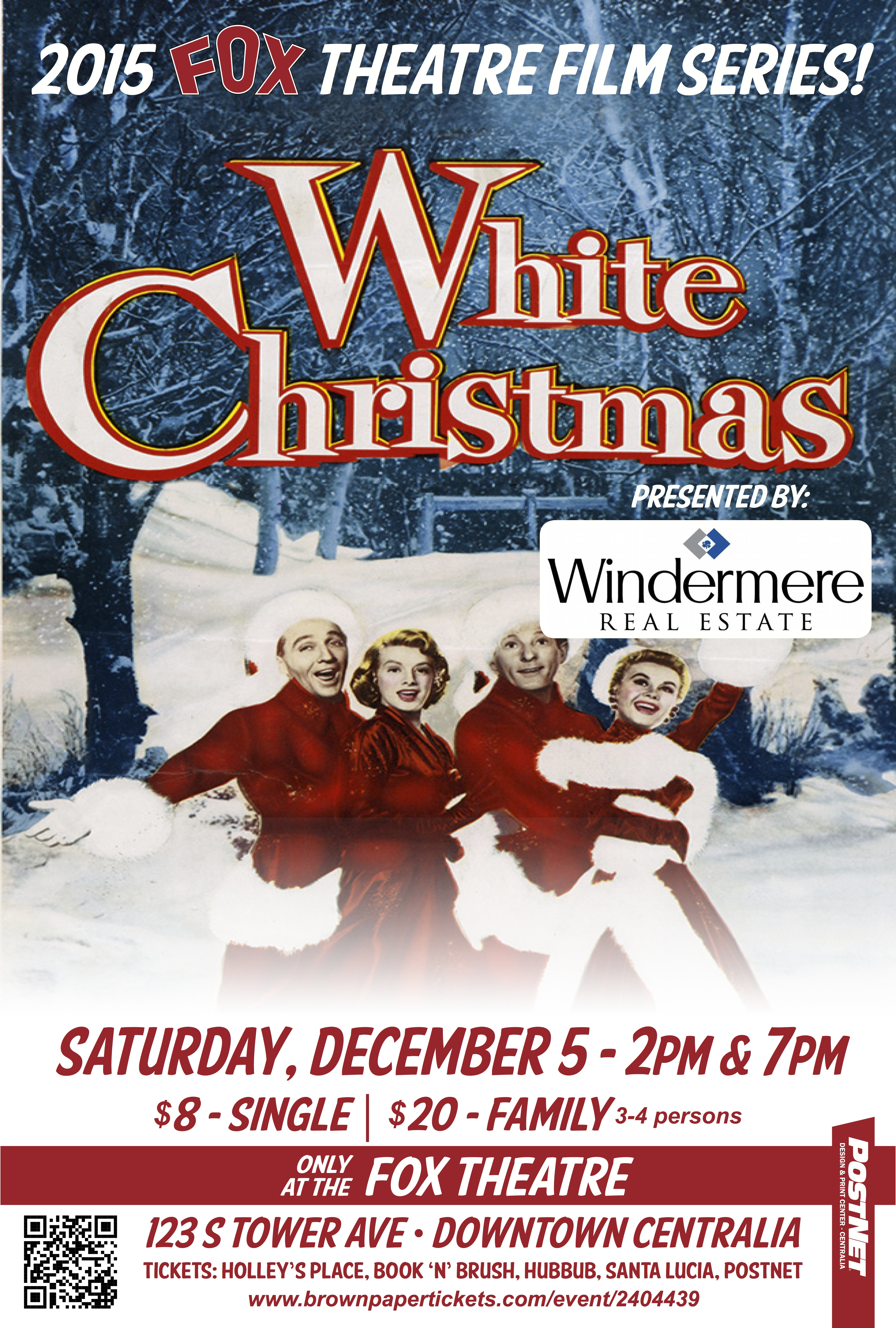 December Fox theatre film series features White Christmas ...