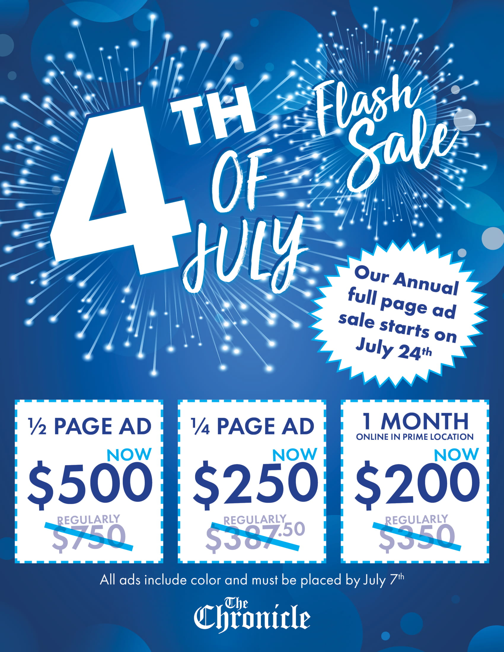 4th of July Flash Sale-1 | Centralia-Chehalis Chamber of Commerce