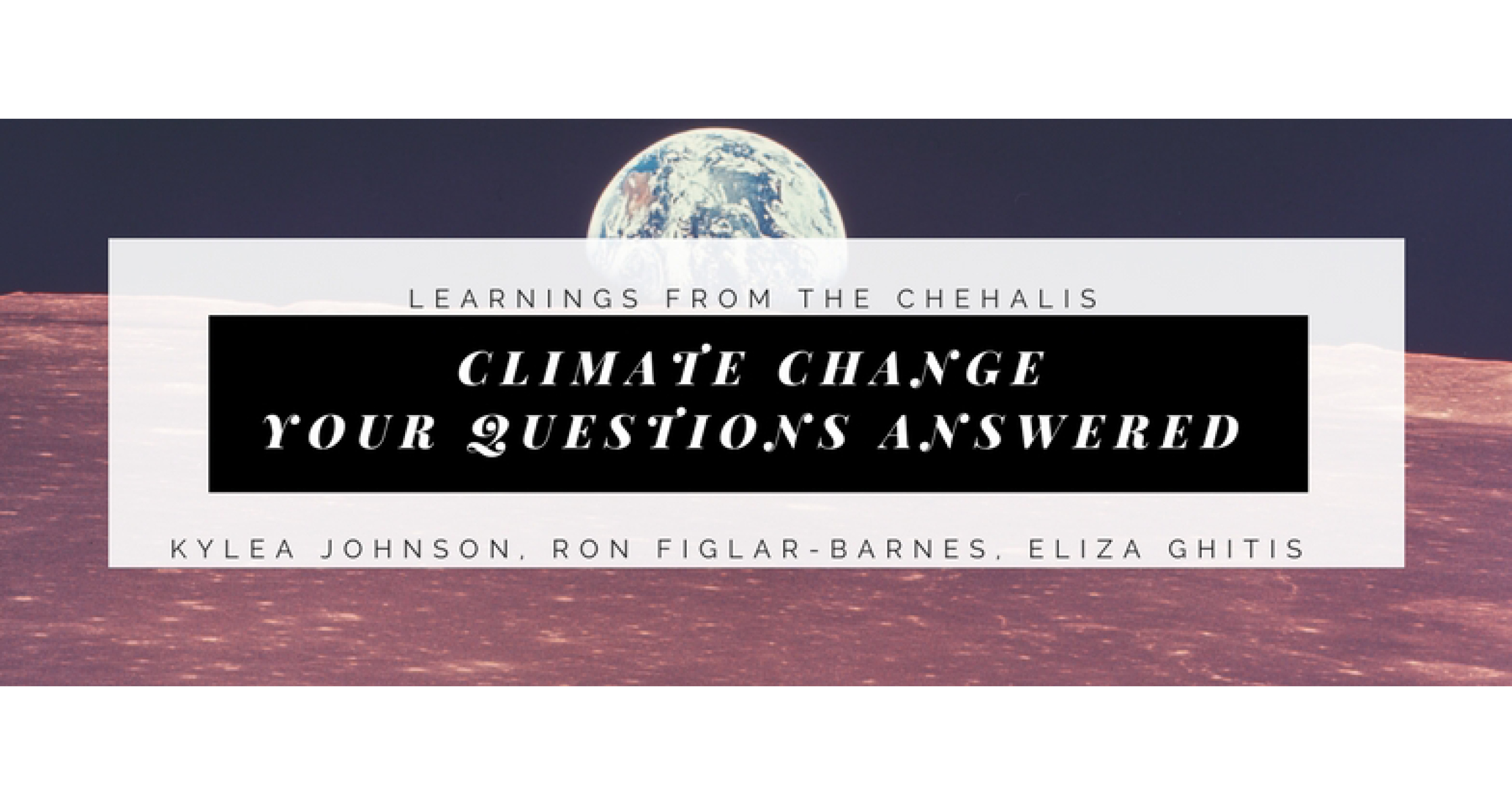 climate change and the question of A special earth day guest lesson, written with nasa's goddard institute for space studies, a leader in global climate change research, and the columbia university earth institute.