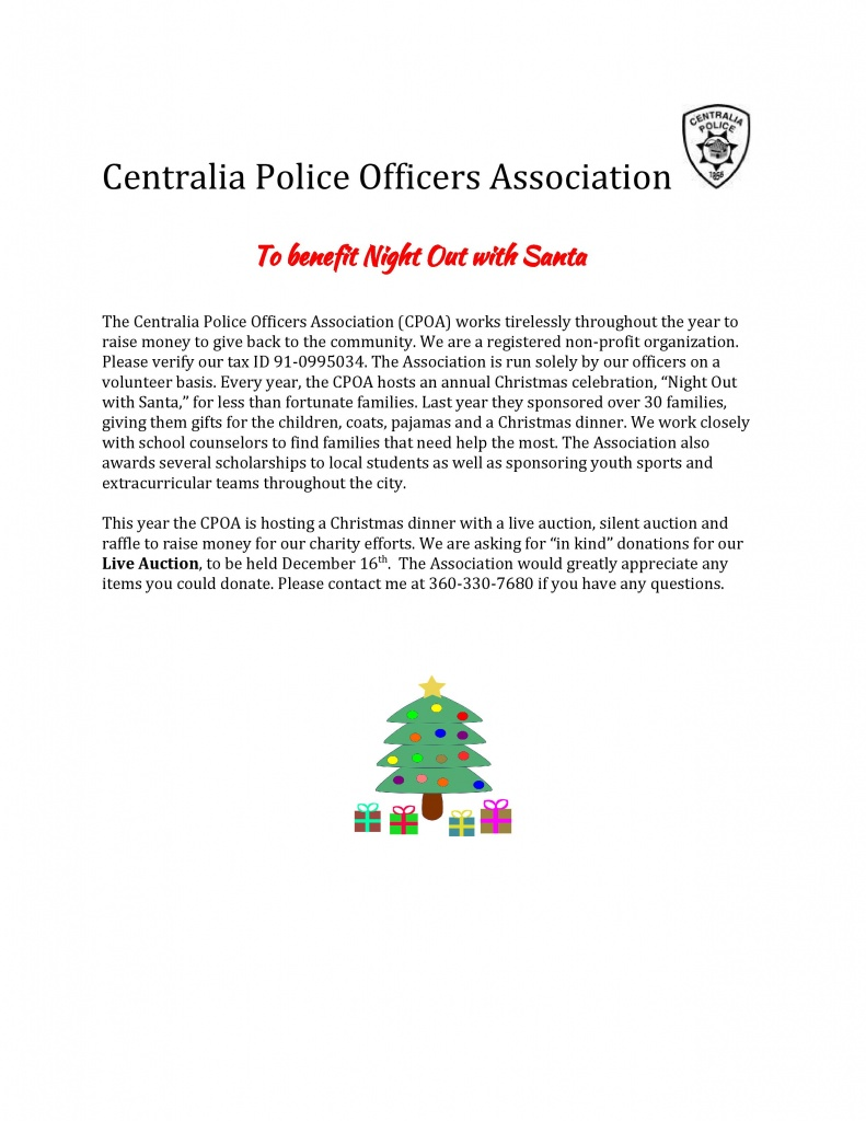 letter asking for christmas donation centralia officers association out with santa 22878 | Christmas in kind donation letter 2016.docx page 001 791x1024